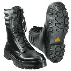 Ботинки утепленные кожаные с высоким берцем ОМОН-Люкс нат мех скоростная шнуровка