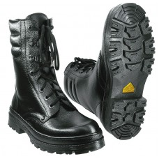 Ботинки утепленные кожаные с высоким берцем ОМОН-Люкс иск мех скоростная шнуровка