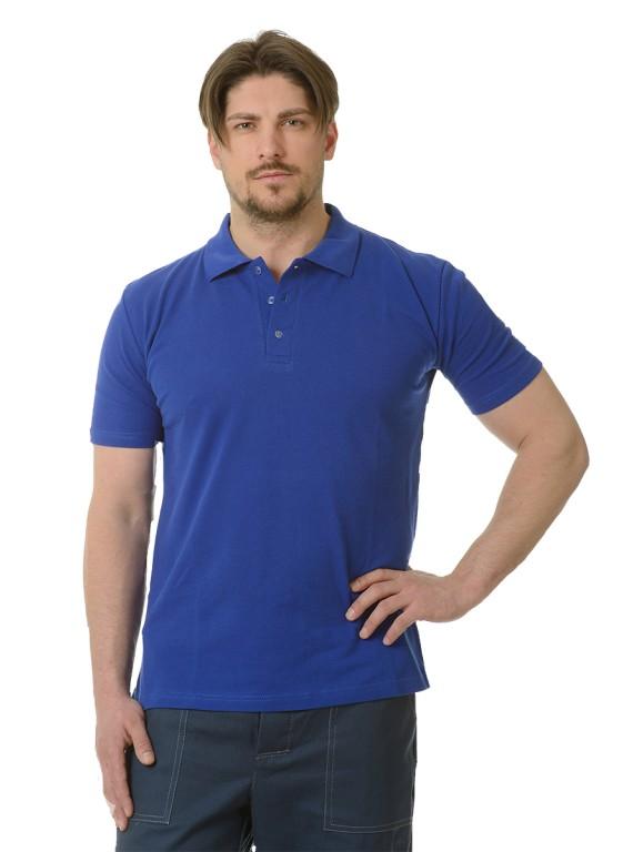 Рубашка Поло короткий рукав васильковая