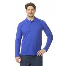 Рубашка Поло длинный рукав васильковая