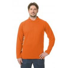 Рубашка Поло длинный рукав оранжевая