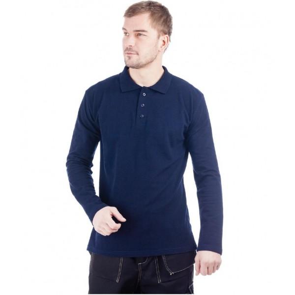 Рубашка Поло длинный рукав синяя