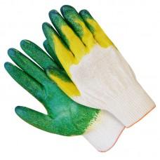 Перчатки хлопчатобумажные латекс двойной облив 10 класс зеленый