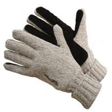Перчатки шерстяные со спилковыми накладками (Тинсулейт) elem189 бежевый