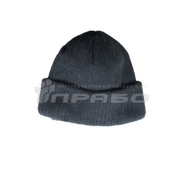 Шапка зимняя трикотажная черный