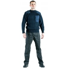 Джемпер с карманом синий