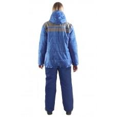 Куртка утепленная женская Онега васильковая