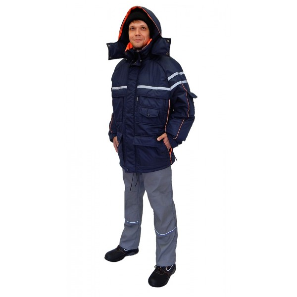 Куртка утепленная мужская Аляска темно-синяя