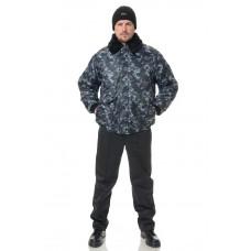 Куртка утепленная Альфа КМФ город серый